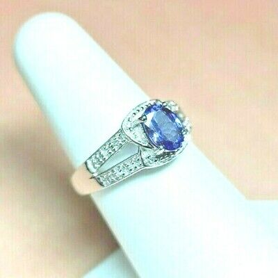 £286.83 • Buy 14k Tanzanite Ring With Diamond Genuine Natural Stones SIGNED SOLID GOLD Sz 7