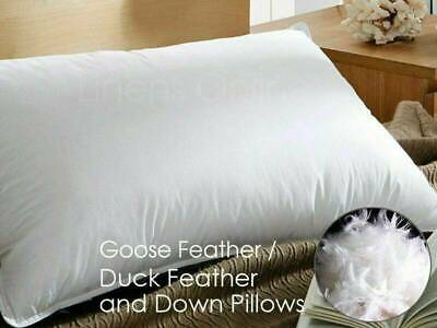 Duck Goose Feather Down Pillows Pillow Extra Filled Hotel Quality PACK Of 1, 2,4 • 16.95£