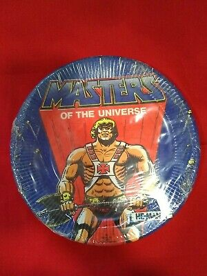 $20 • Buy He-Man MASTERS OF THE UNIVERSE 1983 Unique 9' Paper Party Plates 8 Pack Sealed