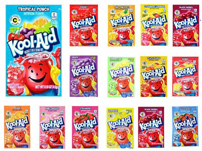 Kool Aid American Powder Mix Drink Single Sachets - Choose Your Flavour • 1.95£