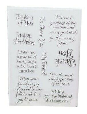 10 Sentiments/sayings Stamps/clear Silicone-wishes/seasonal Thoughts/greetings • 5.25£