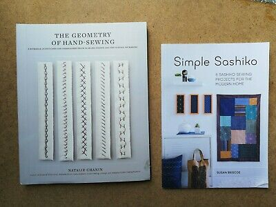 2 Books On Sewing - The Geometry Of Hand Sewing + Simple Sashiko (crafts, Home)  • 11.99£