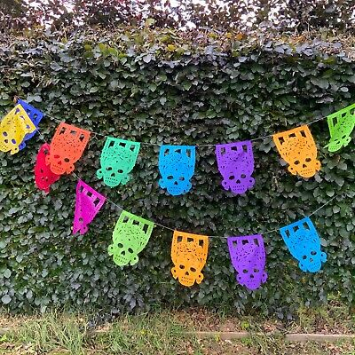 £5 • Buy Mexican Paper Picado Day Of The Dead Fridas Decoration.
