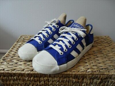 Adidas Originals Adria UK Size 6 Made In Taiwan 70s 80s OG Blue White Pumps Rare • 44.99£