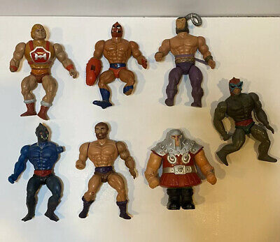 $100 • Buy Vintage Masters Of The Universe He-Man Figure Lot Originals Used Beater Parts