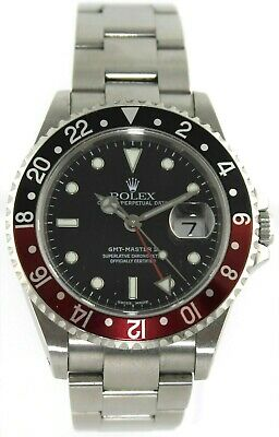 $ CDN18172.08 • Buy Rolex Gmt Master Ii 16710 Automatic Oyster Date Red Black Watch Box And Papers