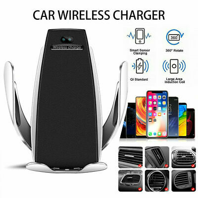 AU20.99 • Buy Car Qi Wireless Charger Fast Auto Clamping Mount Holder For IPhone 11 Pro X SE 2