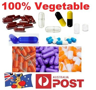 AU2.92 • Buy 💊Size 1 2 3 4 0 00 000 Empty Vegetable Capsules Medicine Pill Vitamins Med Drug
