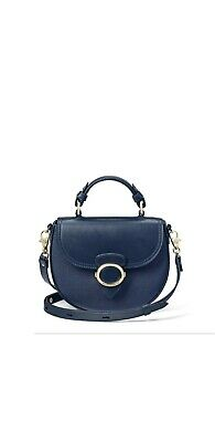 Aspinal Of London Women's Navy Blue Pebble Saddle Bag • 190£