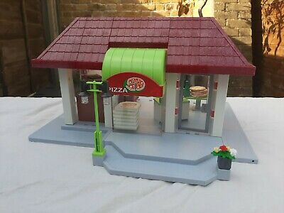 Playmobil 6220 - Shop / Store With Awning + 6291 Pizza Shop • 54.90£