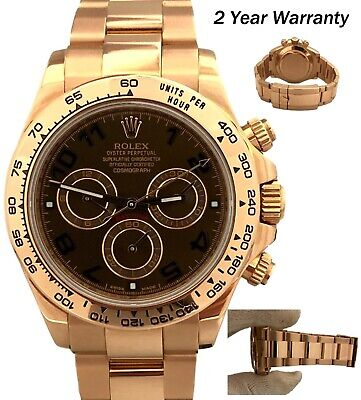 $ CDN54046.22 • Buy Rolex Daytona 18K Everose Chocolate Arabic Dial Automatic 40mm 116505 Watch