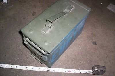 $17.99 • Buy 50 Cal M2A1 Military Ammo Can 5.56mm .50 Caliber Metal Box ** GEOCACHE