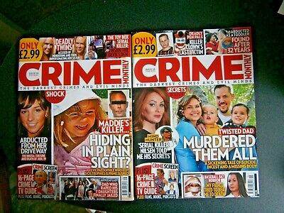 £4.99 • Buy 2 Crime Monthly Magazines Issues 15 June & 16 July   (new) 2020