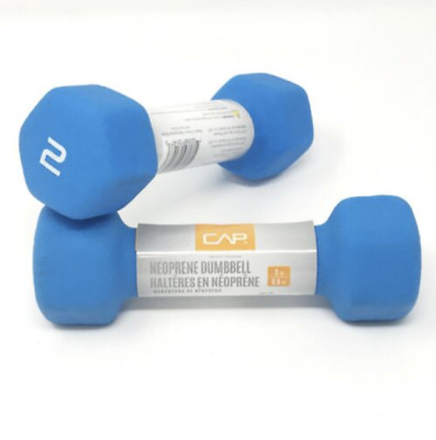 $ CDN13.18 • Buy (1) PAIR 2lb CAP Hex Neoprene Dumbbell Weights NEW (4lbs TOTAL) - FAST SHIPPING!