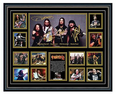 AU99.99 • Buy Pantera Dimebag Darrell Signed Limited Edition Framed Memorabilia