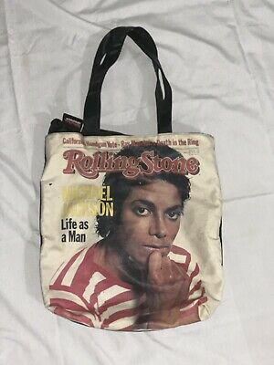 Michael Jackson Rolling Stone Magazine 1983 Life As A Man Cover Tote Bag Vintage • 7.48£