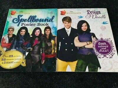 Disney Descendants Books SET -2 BOOKS-(Design And Doodle/Descendants Poster Book • 8.90£