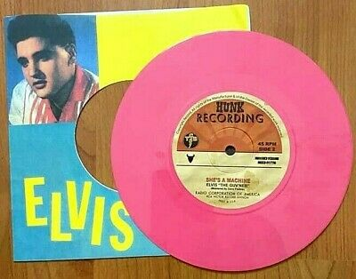 Elvis Presley – Stepping Out Of Line – Shes A Machine – Pink Limited Vinyl - Ftm • 35£