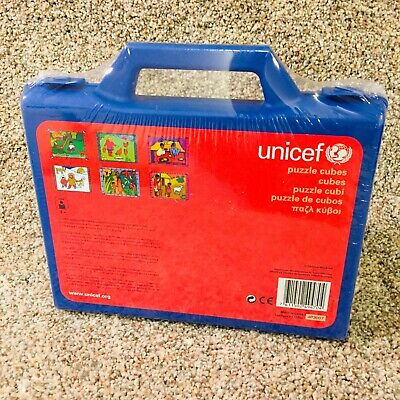 $ CDN30.01 • Buy Unicef Puzzle Cubes 6 Pictures In Blue Plastic Carrying Case
