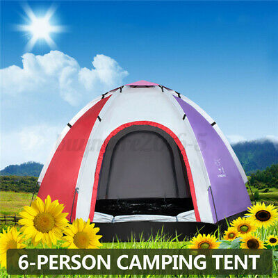 AU57.66 • Buy 5-6 Person Camping Tent Waterproof Ultraviolet-proof Instant Set Up Hiking Dome