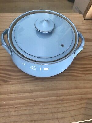 DENBY Colonial Blue Casserole / Serving Dish With Lid VGC • 20£