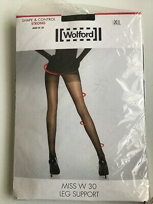 Wolford Miss W 30 Leg Support Tights Black XL • 12.99£