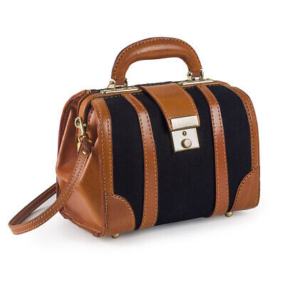 Canvas With Leather Trim Doctors Bag 9'' - 40516 • 19.95£