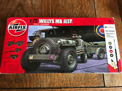 Airfix 1:72 Willys MB Jeep A68217 Spares Or Repair Part Kit, Paints And Box Only • 1.99£