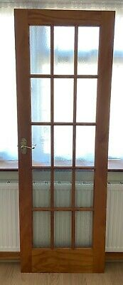 Glass Panel WOODEN DOOR Interior Indoor Home Window Opaque Frost Glazed Internal • 110£