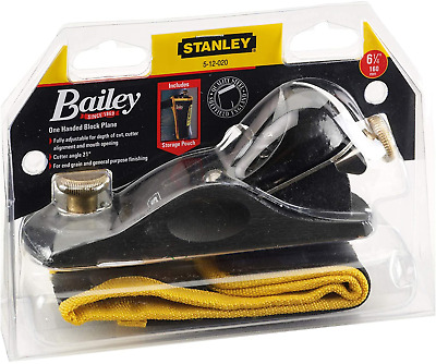 Stanley STA512020 9 1/2 Fully Adjustable Block Plane With Storage Pouch 5-12-020 • 65.31£