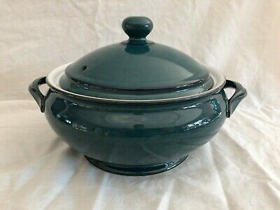 Denby Greenwich Footed Vegetable Tureen / Casserole / Serving Dish - Vgc • 29.99£