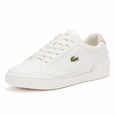 Lacoste Challenge 120 1 Womens White Light Pink Trainers Designer Fashion Shoes • 57£