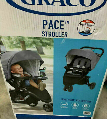 Graco Pace Stroller One Hand Self Standing Fold Whitmore In Gray • 91.24£