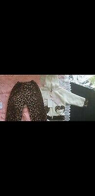 Baby Girls Leopard Print Winter Outfit 6-9 Months  • 1.60£