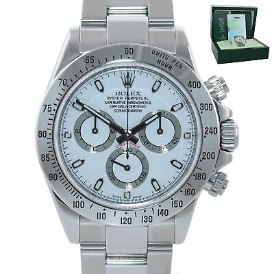 $ CDN24832.88 • Buy PAPERS 2007 MINT Rolex Daytona 116520 White Dial Steel Chrono 40mm Watch Box