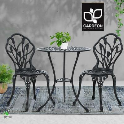 AU203.45 • Buy Gardeon 3 Piece Outdoor Setting Chairs Table Bistro Set Cast Aluminum Patio