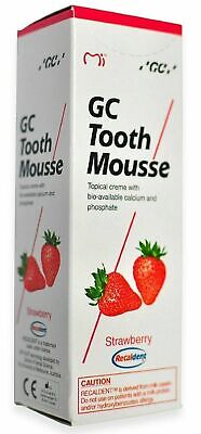 AU35.50 • Buy GC Tooth Mousse Strawberry Flavour Topical Creme With Calcium & Phosphate