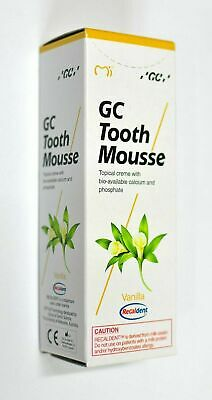 AU35.50 • Buy GC Tooth Mousse Vanilla Flavour Topical Creme With Calcium & Phosphate