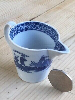 Antique Pearlware Minature Blue & White Creamer • 49.95£