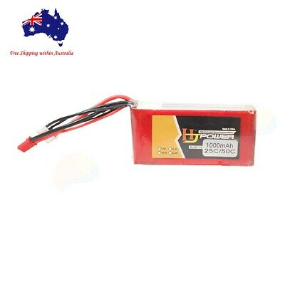 AU26.99 • Buy 3s 11.1v 1000mAh 25C Lipo Li-Po Battery W/ Jst Plug For RC FPV Drone Heli Car
