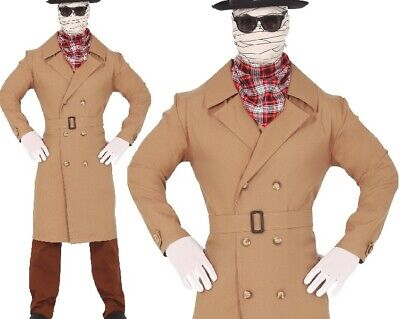 $ CDN34.60 • Buy Mens Halloween Invisible Man Fancy Dress Costume Men's Outfit Fg