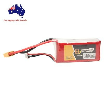 AU27.99 • Buy 3s 11.1v 1300mAh 30C Lipo Li-Po Battery W/ XT60 Plug For RC FPV Drone Heli Car