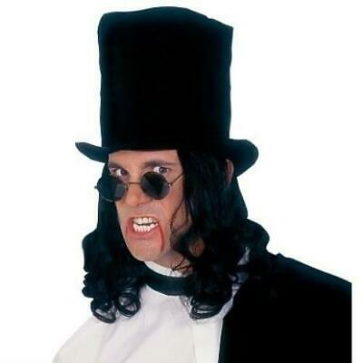 £9.34 • Buy Victorian Vampire Top Hat With Black Hair Attached / Slash