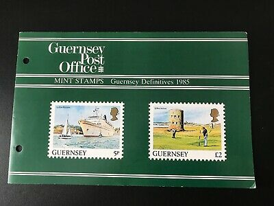 Guernsey Post Office Mint Stamps Definitive 1985 Up To £2 MNH In Folder FREEPOST • 2.50£