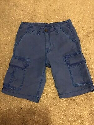 True Religion Cargo Shorts - Small 28/30 - Blue - VGC • 20£