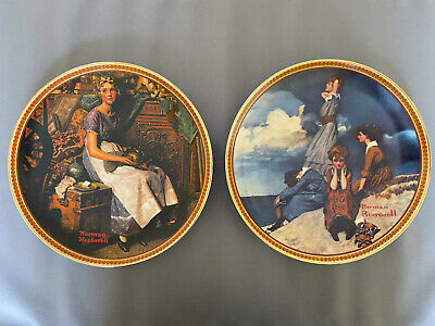 $ CDN39.99 • Buy Edwin Knowles Norman Rockwell's Rediscovered Women Collectors Plate Set Of 2