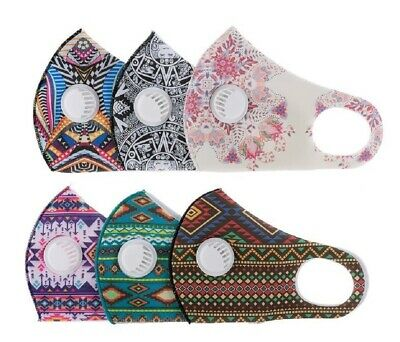 $ CDN16.48 • Buy X2Packs Valve Filter Mask Face Cover Stretch Reusable Washable Available Prints
