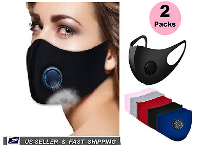 $ CDN16.46 • Buy X2 Packs Valve Filter Masks Stretch Reusable Washable Available Colors