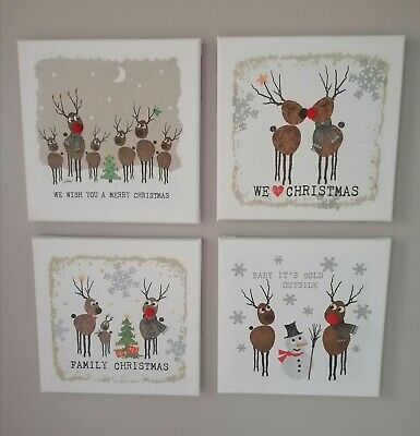 £4.99 • Buy Handmade Christmas Decoupage Canvas Pictures . These Stunning Pictures