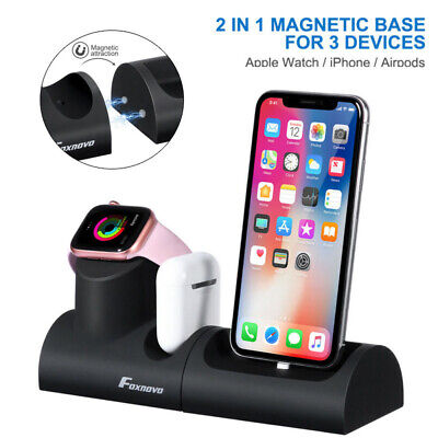 AU19.99 • Buy AU Wireless Charger Charging Station Dock Stand 3 In 1 For Apple Watch IPhone